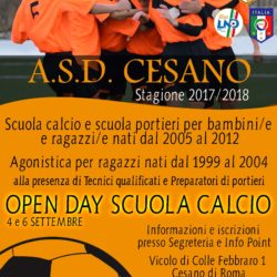 STAGIONE 2017/2018 - OPEN DAY