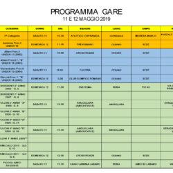 Programma Gare 11 e 12 Maggio