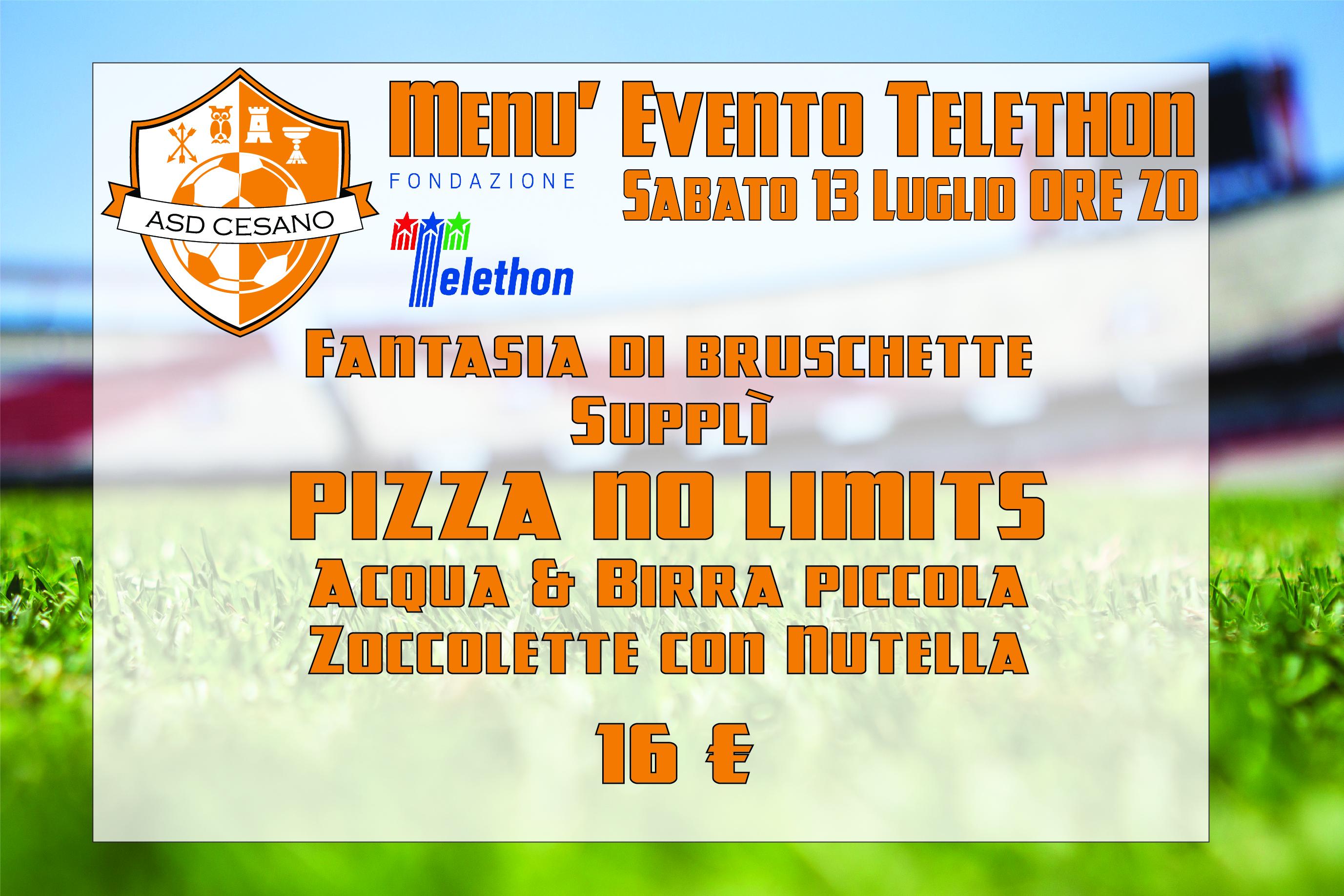 menu telethon