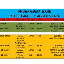 ⚽️ Programma gare 9 e 10 Novembre
