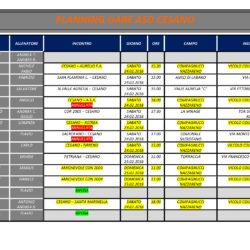 Programma gare 24 e 25 Febbraio