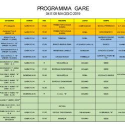Programma Gare 4 e 5 Maggio