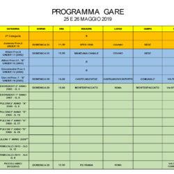 Programma Gare 25 e 26 Maggio