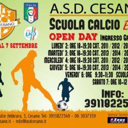 OPEN DAY - SCUOLA CALCIO