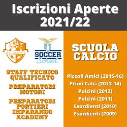 Iscrizioni Aperte Scuola Calcio